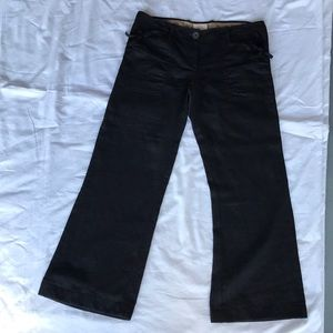 Anthropologie AVOCA black linen pants size 2.
